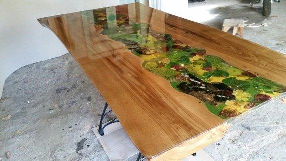 Legno e resina tavolo una vita che vale 5 una vita che for Tavolo legno resina