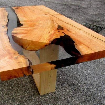 Tavoli Con Tronchi Di Legno.Come Costruire Tavoli E Tavolini In Legno Con Resina Epossidica